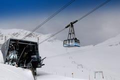 Funiculaire de glacier de Zugspitze - station de téléphérique Photo stock