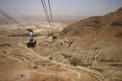 Funiculaire de Masada Photographie stock