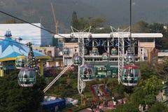 Funiculaire de parc d'océan en Hong Kong photographie stock