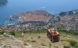 Funiculaire Dubrovnik Images libres de droits