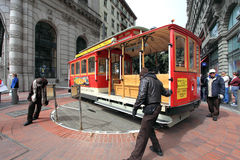 Funiculaire, San Francisco Photos libres de droits