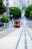 Funiculaire à San Francisco Images libres de droits