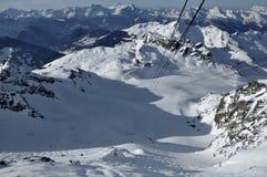 Funiculaire suisse de fort de Mont d'Alpes Photo libre de droits