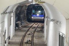 Funiculaire, voies ferrées, à Bergen, la Norvège photo stock