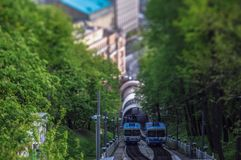 Funiculaires dans Kyiv Image stock