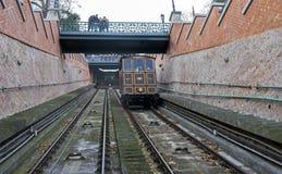 Funicular ή τελεφερίκ Hill Buda Βουδαπέστη, Ουγγαρία στοκ εικόνα