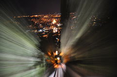 Funicular από την κορυφή του βουνού Mtatsmina Στοκ εικόνες με δικαίωμα ελεύθερης χρήσης