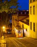 Funicular στην οδό της Λισσαβώνας, Πορτογαλία Στοκ φωτογραφία με δικαίωμα ελεύθερης χρήσης
