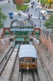Funicular στη Βουδαπέστη, Ουγγαρία Στοκ Φωτογραφίες
