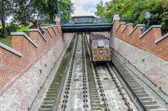 Funicular στη Βουδαπέστη, Ουγγαρία στοκ εικόνα με δικαίωμα ελεύθερης χρήσης