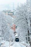 Funicular του Κίεβου Στοκ Φωτογραφίες
