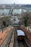 Funicular λόφων κάστρων της Βουδαπέστης Στοκ εικόνες με δικαίωμα ελεύθερης χρήσης