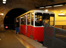 Funicular 1 of Lyon at Fourvière. Royalty Free Stock Photos