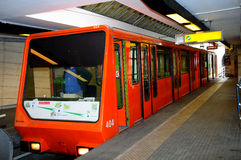 Funicular 2 of Lyon at Saint Just - lower station. Royalty Free Stock Photography