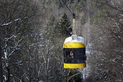 Funicular. Cable way, winter Stock Photos