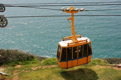 Funicular. On  Rosh Hanikra , Israel Stock Photos