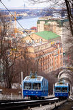 funicular royaltyfria bilder