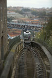 Funicular arriving on top Royalty Free Stock Image