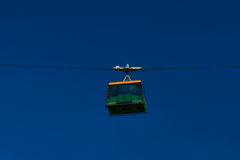 Funicular on the background of blue sky Stock Images