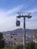 The funicular: Barcelona modern cable railway Royalty Free Stock Image