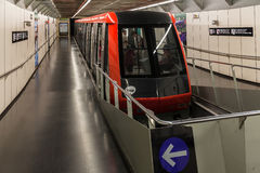 Funicular in Barcelona Spain Royalty Free Stock Images