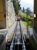 The funicular of Bergamo in Italy Royalty Free Stock Image