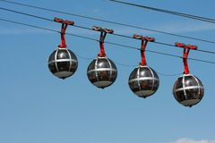 Funicular bubble cars Stock Images