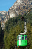 Funicular on Bucegi. Funicular on Busteni vilage - Bucegi - Romania Stock Images