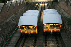 Funicular, Budapest. Old funicular in Budapest, Hungary Royalty Free Stock Photo