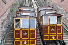 Funicular in Budapest Stock Image