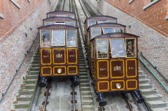 Funicular in Budapest, Hungary. Royalty Free Stock Photo