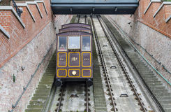 Funicular in Budapest, Hungary. Royalty Free Stock Images