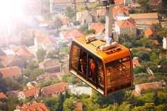 Funicular cable car in Dubrovnik Royalty Free Stock Photos