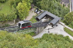 Funicular cable car in Salzburg, Austria Stock Images