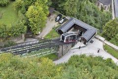 Funicular cable car in Salzburg, Austria Stock Photos