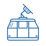 Funicular or Cable Car Vector Icon Royalty Free Stock Photos