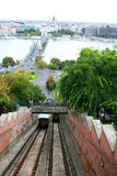 Funicular , cable railway Stock Images