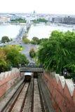 Funicular , cable railway. Funicular cable railway, Hungary, Budapest Stock Images