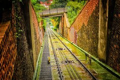 Funicular: cable railway Royalty Free Stock Photo