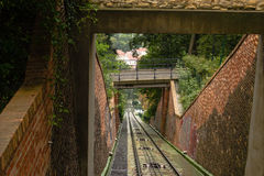 Funicular: cable railway Stock Images