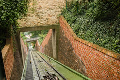 Funicular: cable railway Royalty Free Stock Photos