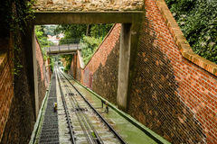 Funicular: cable railway Royalty Free Stock Images