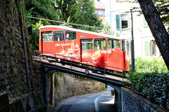 Funicular Car on Bridge royalty free stock photography