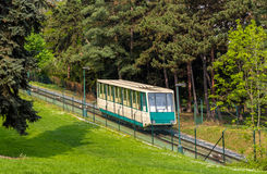 A funicular car in Prague Royalty Free Stock Photo