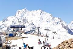 Funicular in Caucasus mountains Royalty Free Stock Image