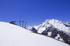 Funicular in Caucasus mountains Royalty Free Stock Photo