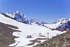 Funicular in Caucasus mountains Stock Photos