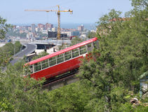 Funicular in city Vladivostok Royalty Free Stock Photography