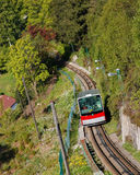 Funicular Climbing Mount Floyen, Bergen, Norway Stock Images
