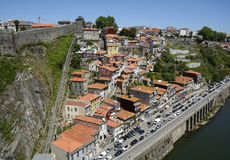 Funicular dos Guindais in historic city Porto in Portugal royalty free stock photos